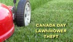 While at the parade, the resident noted to his family a male walking down the street with a lawnmower that appeared very similar to his own.