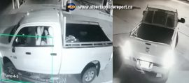Red Deer RCMP are looking for two men who tried unsuccessfully to steal an ATM from the East Hill Fas Gas early Monday morning.