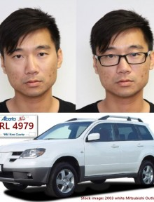 "Wen Fu Guan, 31, is described as a Chinese male with glasses, dark brown eyes and black hair. He is approximately 5'6"" tall and weighs approximately 120 lbs."