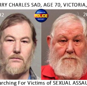 Harry Charles Sadd, a 70-year-old Victoria man, was arrested for the assaults after the victim, now an adult, came forward.