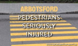 Two Females, Ages 20 and 6, Seriously Injured in Abbotsford Pedestrian Collision