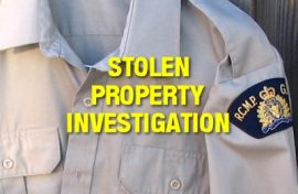 Among the items seized was property belonging to the RCMP including two RCMP uniforms, a duty belt, shoulder patches, baseball cap, handcuffs and a toque that were stolen during a Wednesday, May 18, 2016 prowling of a RCMP patrol vehicle. (file photo)